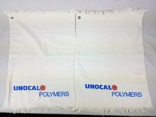 Vtg Union 76 Unocal Polymers Hand Golf Sport Towels Set of 2