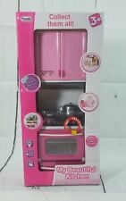 New My Beautiful Kitchen Appliances Fridge Oven Cabinet Light and Sound Toy Set