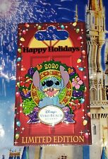Disney Pin Stitch Happy Holidays Vero Beach Resort Christmas Pin LE 750