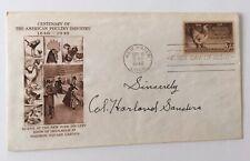 1940 Colonel Sanders KFC Autograph Reprint On Collector/'s Envelope *126