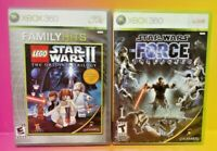 Lego Star Wars II + Force Unleashed - MicroSoft XBOX 360 Game Lot Tested Working
