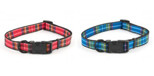 Ancol Adjustable Dog Collar Tartan Various Sizes and Colours
