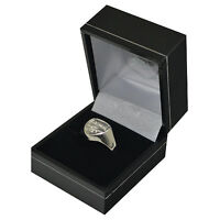 OFFICIAL ARSENAL FC SILVER PLATED CREST RING S,M,L SIZE IN GIFT BOX NEW XMAS