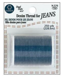 Coats Denim Thread For Jeans 250yd Spool Blue, In Stock Never drop shipped.