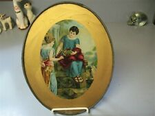 Lovely Antique Oval Chimney Flue Cover, Roman/Grecian Women Scene