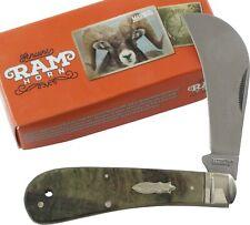 Marbles Rams Horn Hawkbill Pocket Knife MR364 Single Folding Blade