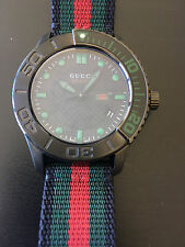 GUCCI 126 G-Timeless Men's Sport Watch YA126229 NATO Fabric Strap 44mm 10ATM