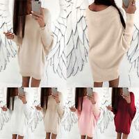 Women Winter Oversized Sweatershirt Long Sleeve Crew Neck Plus SizePulloverS-5XL