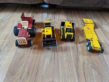 Lot Of 3 Vintage Tonka Tractors & 2 Trailers