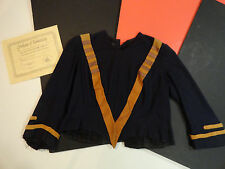 TITANIC James Cameron MOVIE WORN WARDROBE Blue Blouse w/Gold Roping COA INCUDED