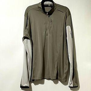 Adidas Porsche Design Sport men's size XL lightweight zip two tone jacket flawed