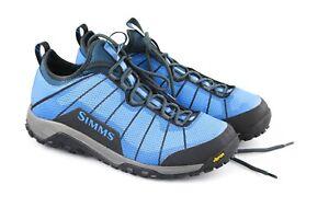 Simms Flyweight Wet Wading Shoe Blue Men's Size 13, Vibram, Excellent Condition
