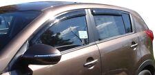 Tape-On Window Ventvisors 4-Piece Smoke For 2011-2015 Kia Sportage AVS 94652