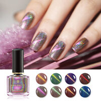 BORN PRETTY 6ml Holographic Cat Eye Nail Polish Shimmer Glitter Nail Art Varnish