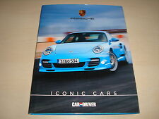 PORSCHE ICONO coches de coche y conductor - DATED 2011 1st Edition Rígida