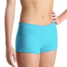 DF5803 - Bloch Women's Roll Down Dance Fitted Shorts 'Turquoise' Size Petite