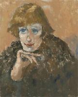 Barbara Doyle (b.1917) - Contemporary Oil, Flirtatious Smile