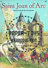 Vintage Reprint - 1961 - Saint Joan Of Arc Punch-Out Book - Reproduction