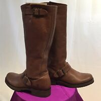 Frye Veronica women's 6B Slouch Boots Cognac Brown Distressed Leather 77605 EUC