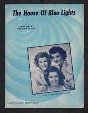 House of Blue Lights 1946 Andrews Sisters Sheet Music