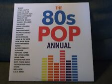 THE 80S POP ANNUAL 2 LP  VINYL NEAR MINT AND COVER EX !  WHAM MEN WITHOUT HATS