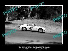 OLD 6 X 4 HISTORIC PHOTO OF BOB MURRELL & HIS SIATA 208CS RACE CAR, G/G 1954 1