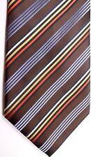 "Colours Alexander Julian Mens Polyester Tie 60"" X 4"" Multi-Color British Stripes"