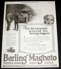 1919 OLD MAGAZINE PRINT AD, BERLING MAGNETOS, SELECTED BY THE LOCOMOBILE CO!