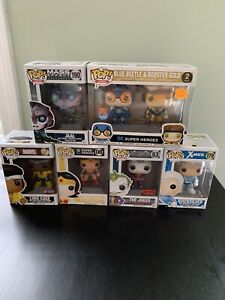 Funko Pop Marvel DC lot - 7 Figures Brand New New In box