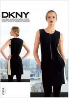 Vogue V1313 Pattern Designer DKNY Donna Karan KNIT Dress UNCUT Sz 4-12 OR 12-20