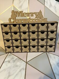 Handmade Make Your Own Wooden Advent Calendar Craft Kit Merry Christmas Decorate