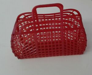 """NEW Vintage Retro RED WINE 9"""" (1980's) JELLY Purse as GIFT BASKET (US Made)"""