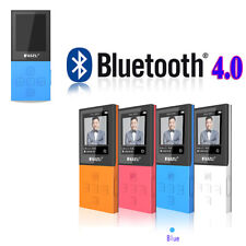 "8Go Bluetooth 4.0 Lecteur Baladeur Audio MP3 Radio FM Enregistreur Ecran 1.8"" BU"