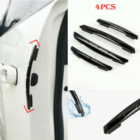 4Pcs/Set Car Door Edge Guard Strip Scratch Protector Anti-collision Trime Black