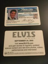 Set ELVIS PRESLEY 2002 RCA Records Promotional DRIVER LICENSE Souvenir Tennessee
