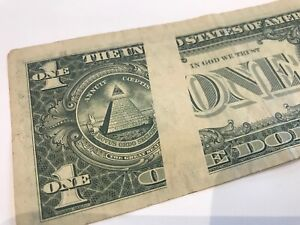 1977 One Dollar Bill ERROR