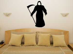 Grim Reaper Death Spooky Scarey Halloween Bedroom Decal Wall Art Sticker Picture