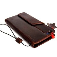 Genuine vintage leather Case for apple iphone 6 6s plus book wallet cover brown
