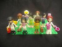 LOT OF 9 LEGO FRIENDS MINIFIGURES GIRLS WOMEN W/ACCESSORIES MINIATURE FIGURES