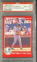 1988 Star #3 Don Mattingly / Mike Schmidt Pro Stats HOF PSA 8.5 *Only 10 Higher*