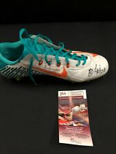 BOBBY McCAIN MIAMI DOLPHINS SIGNED GAME USED CLEAT JSA COA 137665