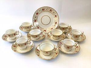 Antique Coalport Tea/coffee Cups & Saucers Tea Set Duos C 1820-29 Pattern 2/447