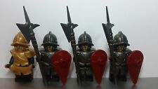Lego Custom CASTLE City Guard SOLDIERS MINIFIGS Battle Pack KNIGHTS Officer NEW