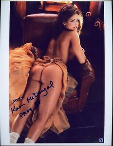 SEXY 1998 Playmate Of The Year KAREN McDOUGAL Autographed Photo HAND SIGNED