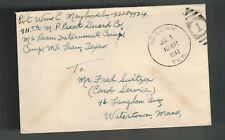 1943 Camp McLean Tx Usa Pow prisoner War Camp Cover Soldier Mail W Maykovich