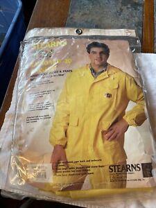 Stearns Raingard 20 Rainsuit jacket & Pants yellow LARGE NEW