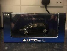 Autoart 2003 VW Golf Black 1/43 MIB Mark V Tan Interior