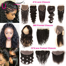 UNice Pre Plucked 360 Lace Frontal Closure Wet and Wavy 8A Brazilian Human Hair