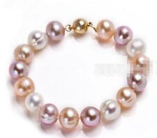 "Charming! 8-9mm Genuine Multicolor Akoya  Pearl Bracelet 7.5"""
