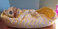 """baby doll carrier,blanket and pillow 14-16"""" berenguer/american bitty baby yello"""